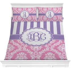 Pink & Purple Damask Comforters (Personalized)