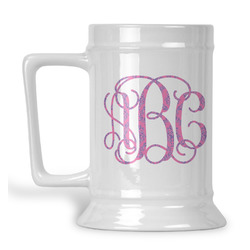 Pink & Purple Damask Beer Stein (Personalized)