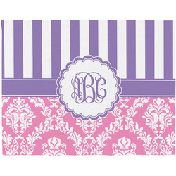 Pink & Purple Damask Placemat (Fabric) (Personalized)