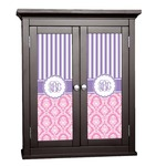 Pink & Purple Damask Cabinet Decal - Custom Size (Personalized)