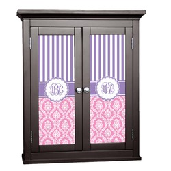 Pink & Purple Damask Cabinet Decal - XLarge (Personalized)