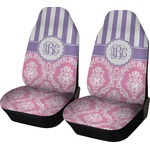 Pink & Purple Damask Car Seat Covers (Set of Two) (Personalized)