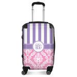 Pink & Purple Damask Suitcase (Personalized)