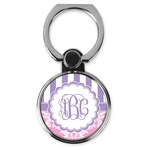 Pink & Purple Damask Cell Phone Ring Stand & Holder (Personalized)