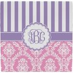 Pink & Purple Damask Ceramic Tile Hot Pad (Personalized)