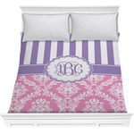 Pink & Purple Damask Comforter (Personalized)