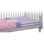 Pink & Purple Damask Crib Fitted Sheet (Personalized)
