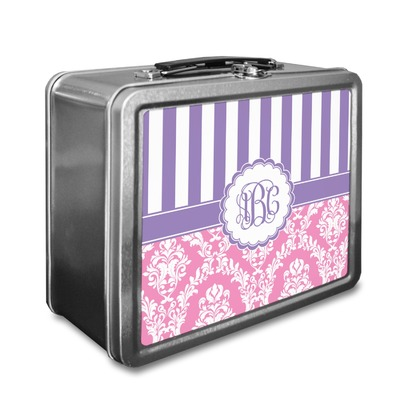 Pink & Purple Damask Lunch Box (Personalized)