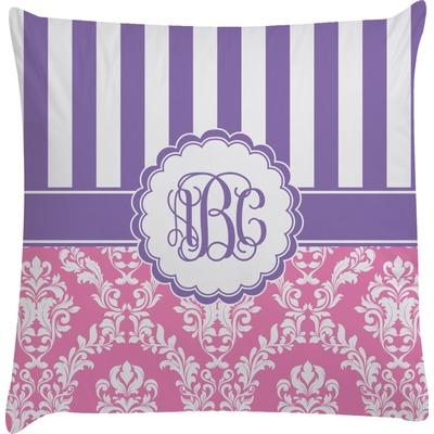 Pink Purple Decorative Pillows : Pink & Purple Damask Decorative Pillow Case (Personalized) - YouCustomizeIt