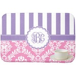 Pink & Purple Damask Dish Drying Mat (Personalized)