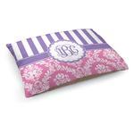 Pink & Purple Damask Dog Bed (Personalized)