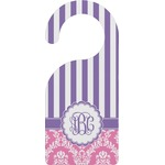 Pink & Purple Damask Door Hanger (Personalized)