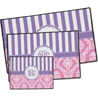Pink & Purple Damask Door Mat (Personalized)