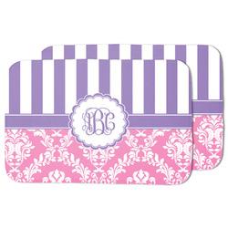 Pink & Purple Damask Dish Drying Mat (Personalized)