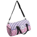 Pink & Purple Damask Duffel Bag (Personalized)