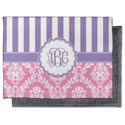 Pink & Purple Damask Microfiber Screen Cleaner (Personalized)