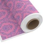 Pink & Purple Damask Custom Fabric by the Yard (Personalized)