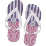 Pink & Purple Damask Flip Flops (Personalized)