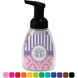 Pink & Purple Damask Foam Soap Dispenser (Personalized)
