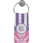 Pink & Purple Damask Hand Towel - Full Print (Personalized)