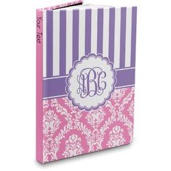 Pink & Purple Damask Hardbound Journal (Personalized)