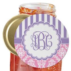 Pink & Purple Damask Jar Opener (Personalized)