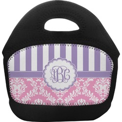 Pink & Purple Damask Toddler Lunch Tote (Personalized)