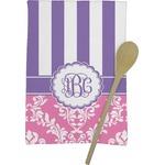 Pink & Purple Damask Kitchen Towel - Full Print (Personalized)