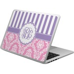 Pink & Purple Damask Laptop Skin - Custom Sized (Personalized)