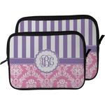 Pink & Purple Damask Laptop Sleeve / Case (Personalized)