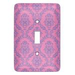 Pink & Purple Damask Light Switch Covers (Personalized)