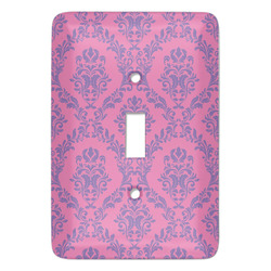 Pink & Purple Damask Light Switch Covers (Personalized)