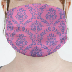 Pink & Purple Damask Face Mask Cover (Personalized)