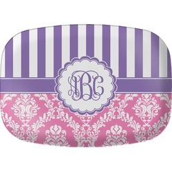 Pink & Purple Damask Melamine Platter (Personalized)