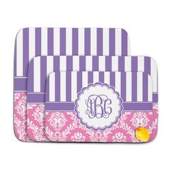 Pink & Purple Damask Memory Foam Bath Mat (Personalized)