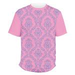 Pink & Purple Damask Men's Crew T-Shirt (Personalized)