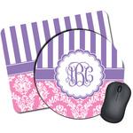 Pink & Purple Damask Mouse Pads (Personalized)