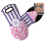 Pink & Purple Damask Neoprene Oven Mitt (Personalized)