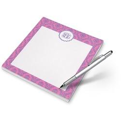 Pink & Purple Damask Notepad (Personalized)