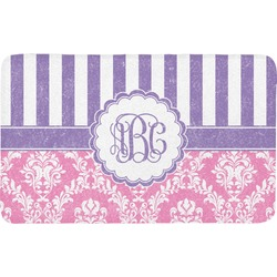 Pink & Purple Damask Bath Mat (Personalized)
