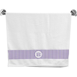 Pink & Purple Damask Bath Towel (Personalized)