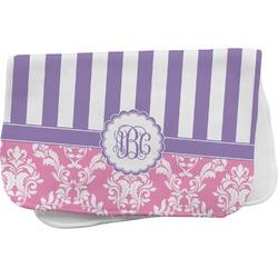 Pink & Purple Damask Burp Cloth (Personalized)
