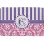 Pink & Purple Damask Comfort Mat (Personalized)
