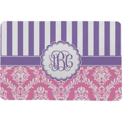 Pink & Purple Damask Comfort Mat (Personalized)