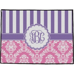 Pink & Purple Damask Door Mat (Personalized)