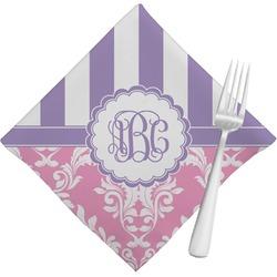 Pink & Purple Damask Cloth Napkins (Set of 4) (Personalized)