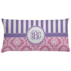 Pink & Purple Damask Pillow Case (Personalized)