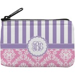Pink & Purple Damask Rectangular Coin Purse (Personalized)