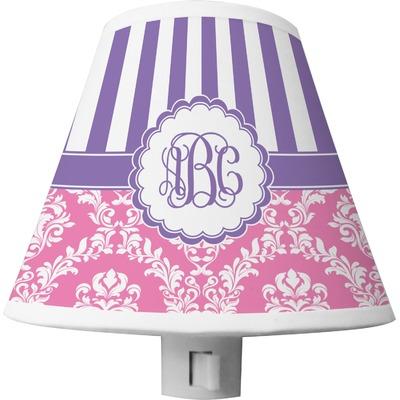 Pink & Purple Damask Shade Night Light (Personalized)