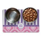 Pink & Purple Damask Dog Food Mat (Personalized)